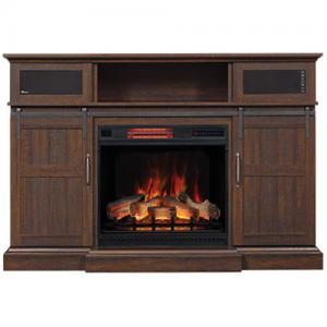 Classic FlameManning Fireplace Media Mantel W/Soundbar (Needs 28II042FGL Insert)