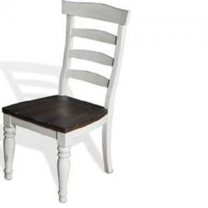 Sunny DesignsBourbon County Ladder Back Dining Chair w/ Wood Seat