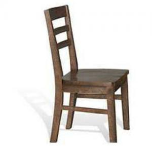 Sunny DesignsLadder Back Chair With Wood Seat