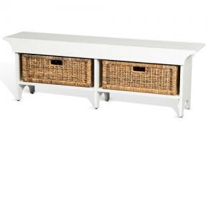 Sunny DesignsVineyard Short Bench w/ Baskets
