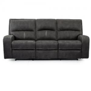 CheersPower Reclining Sofa w/Headrest
