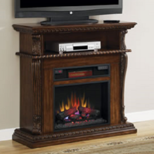Classic FlameCorinth Mantle Premium Walnut