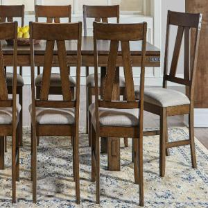 A-AmericaEastwood Slat-back Upholstered Dining Chair