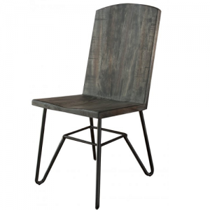 Artisan IfdMoro Parota Dining Side Chair w/Iron Base