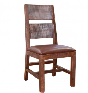 Artisan IFDWooden Side Chair w/ Bonded Leather Seat