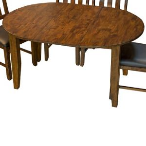 "A-AmericaMason 42"" Oval Leg Dining Table"