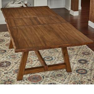 A-AmericaMclaren Live Edge Trestle Table Top  w/ Butterfly Leaf