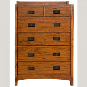 A-AmericaMission Hill 6 Drawer Chest