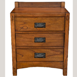 A-AmericaMission Hill 3 Drawer Nightstand