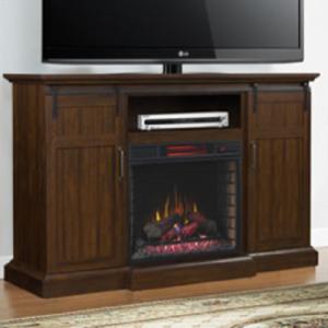 Classic FlameManning Entertainment Fireplace Mantel W/Soundbar