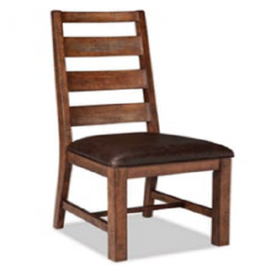 InterconTaos Ladder Back Upholster Side Chair