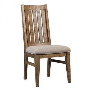 InterconUrban Rustic Slat Back Upholstered Dining Chair