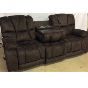CheersGliding Reclining Sofa w/Table