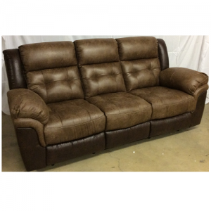 CheersReclining Sofa 2-Tone Silt