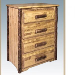 Montana WoodworksLog 4 Drawer Chest Deluxe Glides