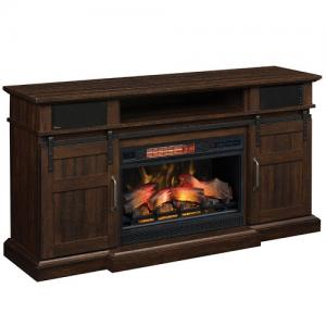Classic FlameHemson Fireplace Media Mantle & Insert (26MMS91448 & 26II042FGL)