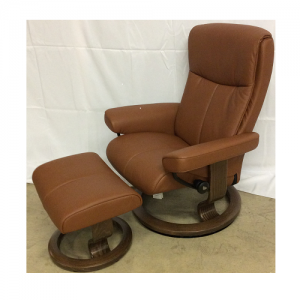 EkornesStressless Peace Medium Chair&Ottoman.Classic Base