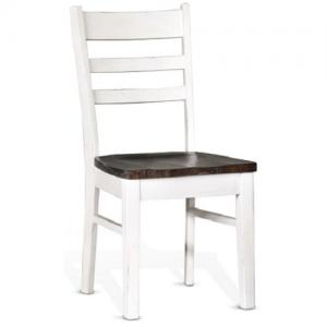 Sunny DesignsCarriage House Ladderback Side Chair w/Wood Seat